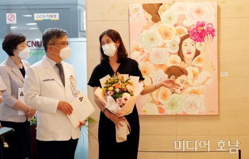 서양화가 송주현 전남대 의대교수 작품 전시회